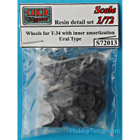 Wheels set 1/72 for T-34 with inner amortization, Ural type