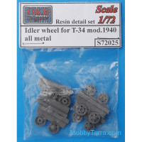 Idler wheels 1/72 for T-34 mod.1940