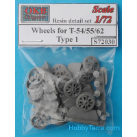 Wheels set 1/72 for T-54/55/62, type 1