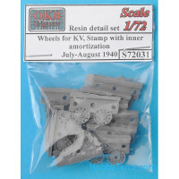 Wheels set 1/72 for KV, stamp with inner amortization, July-August 1940