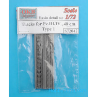 Tracks for Pz.III/IV, 40 cm, type 1 (resin)