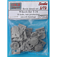 Wheels set 1/72 for T-34,10 bolts, late production (smooth bandage)
