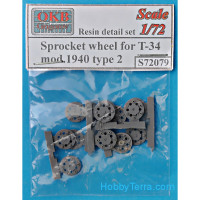 Sprocket wheel for T-34,mod.1940, type 2 (6 pcs)