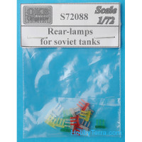Rear-lamps 1/72 for Soviet tanks