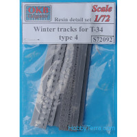 Winter tracks 1/72 for T-34, type 4