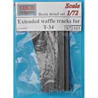 Extended waffle tracks for T-34
