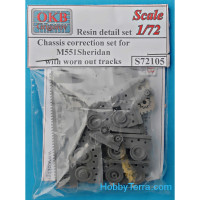 Chassis correction set for M551 Sheridan, with worn out tracks