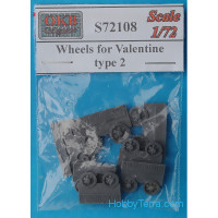 Wheels set 1/72 for Valentine tank, type 2