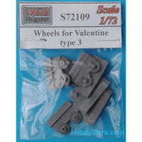 Wheels set 1/72 for Valentine tank, type 3