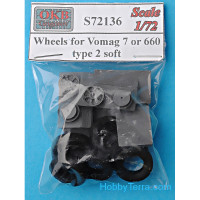 Wheels set 1/72 for Vomag 7 or 660, type 2