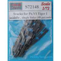 Tracks 1/72 for Pz.VI Tiger I, middle, single links (48 per set)