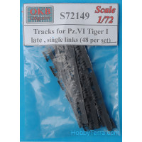 Tracks 1/72 for Pz.VI Tiger I, late, single links (48 per set)