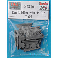 Early idler wheels for T-64, 14 pcs