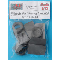 Wheels set 1/72 for Vomag 7 or 660, type 1 hard
