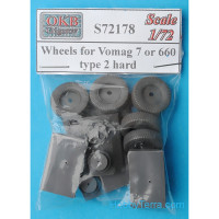 Wheels set 1/72 for Vomag 7 or 660, type 2 hard
