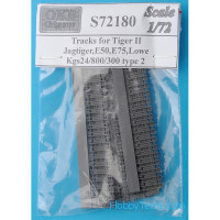 Tracks 1/72 for Tiger II,Jagtiger,E50,E75,Lowe, Kgs24/800/300, type 2