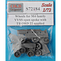 Wheels for M4 family, VVSS open spoke with TB ORD 22 applied