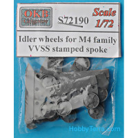 Idler wheels for M4 family, VVSS stamped spoke (12 per set)