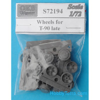 Wheels set 1/72 for T-90 tank, late