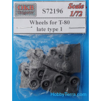 Wheels 1/72 for T-80, late, type 1