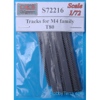 Tracks 1/72 for M4 family, T80
