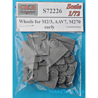 Wheels set 1/72 for M2/3, AAV7, M270, early