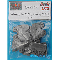 Wheels set 1/72 for M2/3, AAV7, M270, late