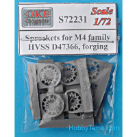 Sprockets for M4 family, HVSS D47366, forging (6 pcs)