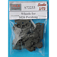 Wheels set 1/72 for M26 Pershing