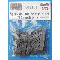 Sprockets 1/72 for Pz.V Panther, 17 tooth, type 4