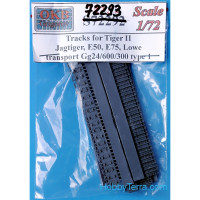 Tracks 1/72 for Tiger II,Jagtiger,E50,E75,Lowe, transport Gg24/600/300, type 2