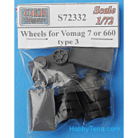Wheels 1/72 for Vomag 7 or 660, type 1