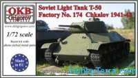 Soviet Light Tank T-50, Factory No. 174  Chkalov, 1941-42