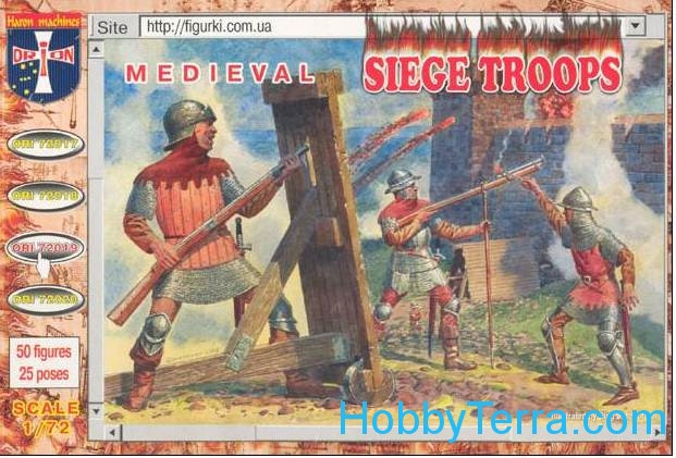 Medival siege crew and handgunners