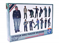 WWII German panzer soldiers, set 1