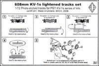 Tracks set 1/72 608mm lightened for KV-1s tank