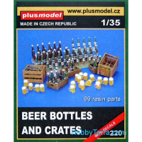 Beer bottles and crates (resin)