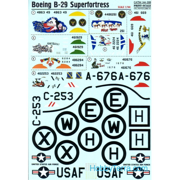 Decal for Boeing B-29 Superfortress