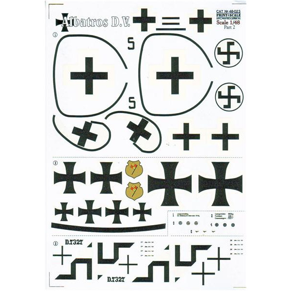 Decal 1/48 for Albatros D.V, Part 2