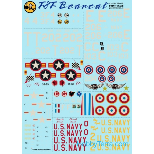 Decal for F8F Bearcat