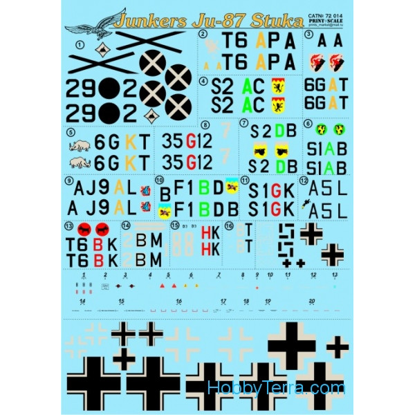 Print Scale  72-014 Decal 1/72 for Junkers Ju-87 Stuka