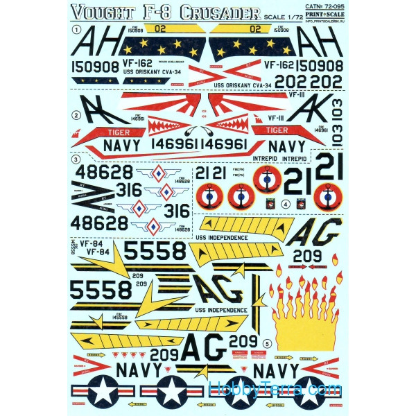 Decal for Vought F-8 Crusader