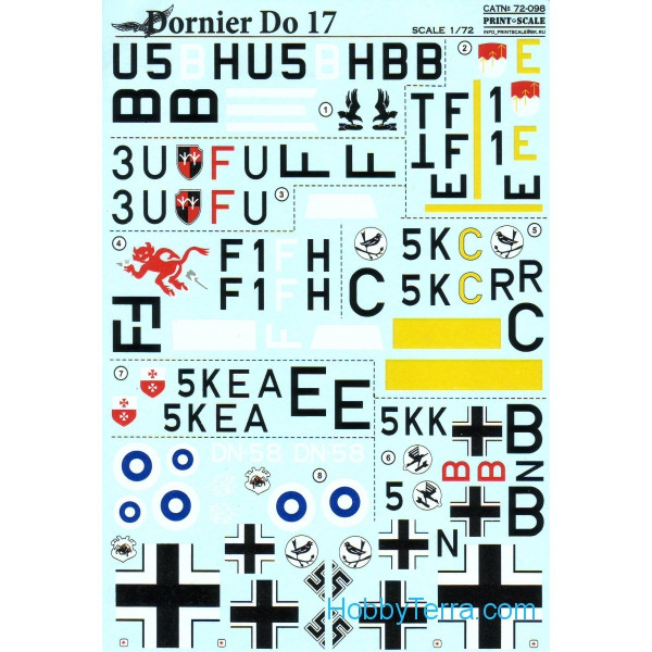 Decal 1/72 for Dornier Do 17