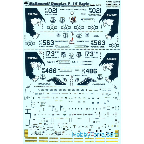 Decal 1/72 for F-15 Eagle