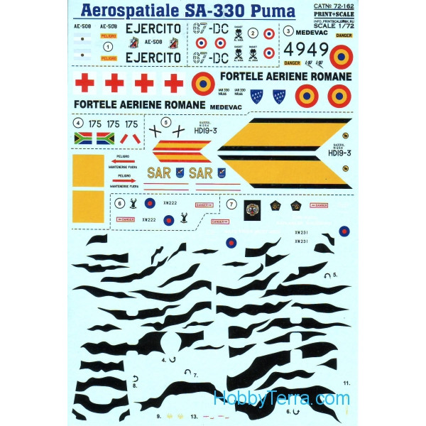 Decal for Aerospatiale SA.330 Puma