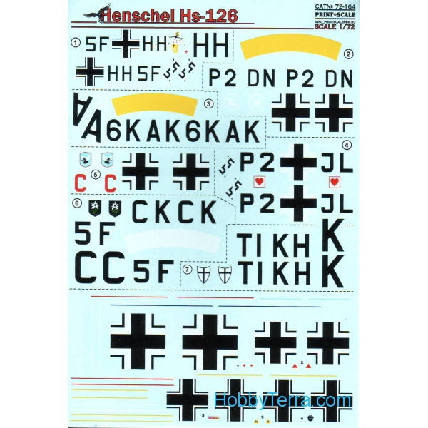 Decal for Henschel Hs 126