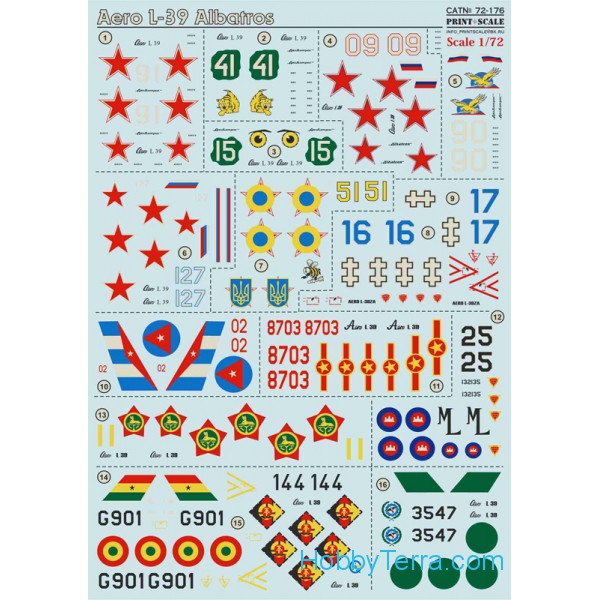 Decal 1/72 for Aero L-39 Albatros