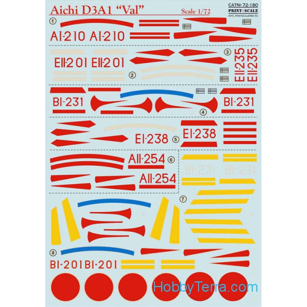 "Decal for Aichi D3A1 ""Val"""