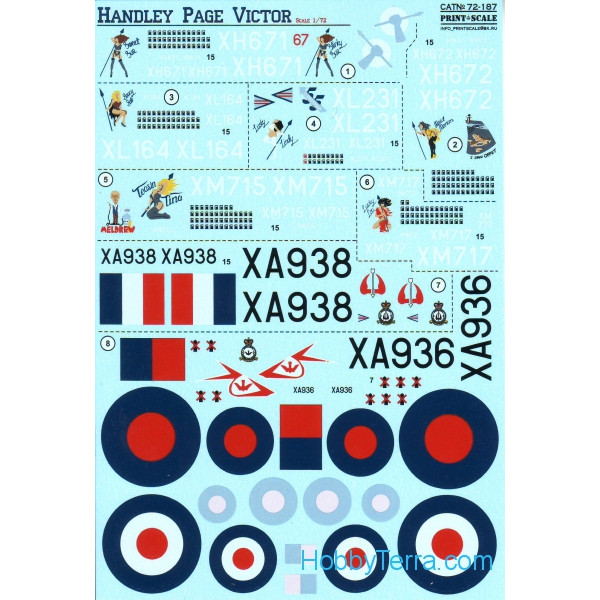 Decal 1/72 for Handley Page Victor