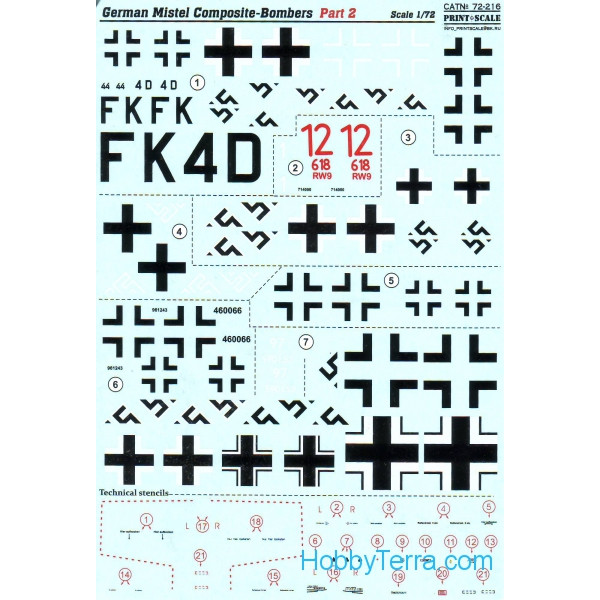 Decal 1/72 for German Mistel Composites, part 2